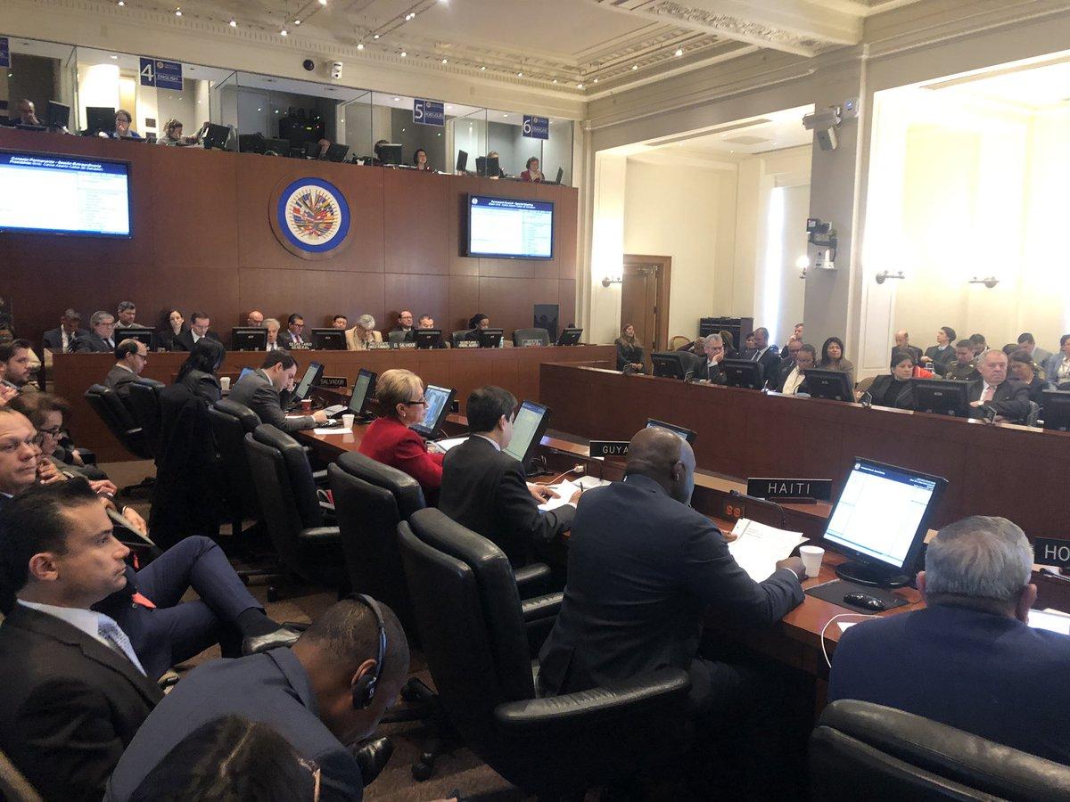 Resolución fue aprobada con 19 votos, 6 en contra y hubo 8 abstenciones / OEA