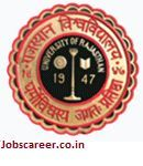 University of Rajasthan Recruitment of Clerk, Lab Assistant and various vacancies for 169 Posts : Last Date 23/06/2017