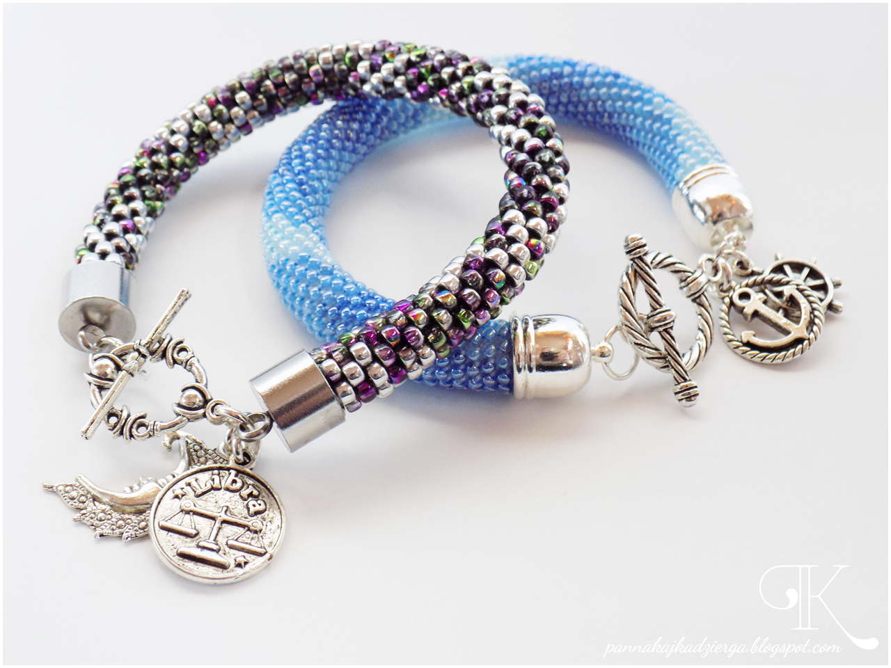 crochet rope, sznur szydełkowy, ukośnik, toho, bransoletki, biżuteria, handmade