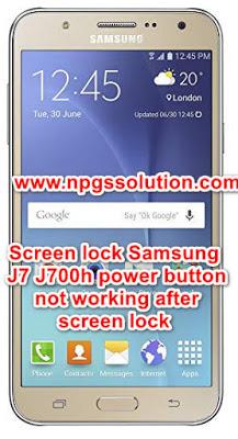 Samsung J7 J700h power button not working after screen lock