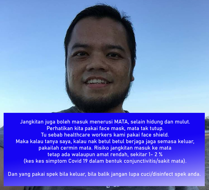 Pesanan Dr. Khairul Faizie mengenai keperluan pakai face mask