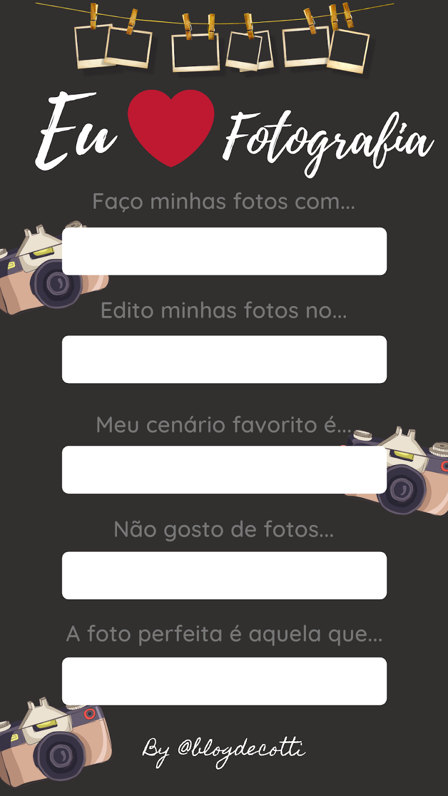 Templates para Instagram Stories