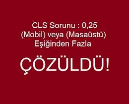 CLS Sorunu : 0,25 Mobil veya Masaüstü Eşiğinden Fazla  [Çözüldü] Search Console