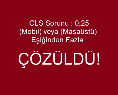 [Çözüldü] CLS Sorunu : 0,25  (Mobil) veya (Masaüstü) Eşiğinden Fazla  HK. Search Console