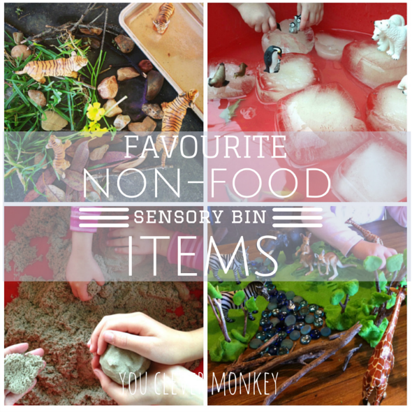 20 Different Non-Food Items Perfect for Rich Sensory Play | you clever monkey