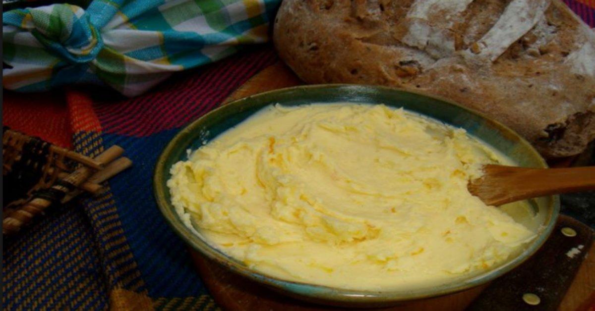 receita-de-manteiga-caseira-culinária-comida