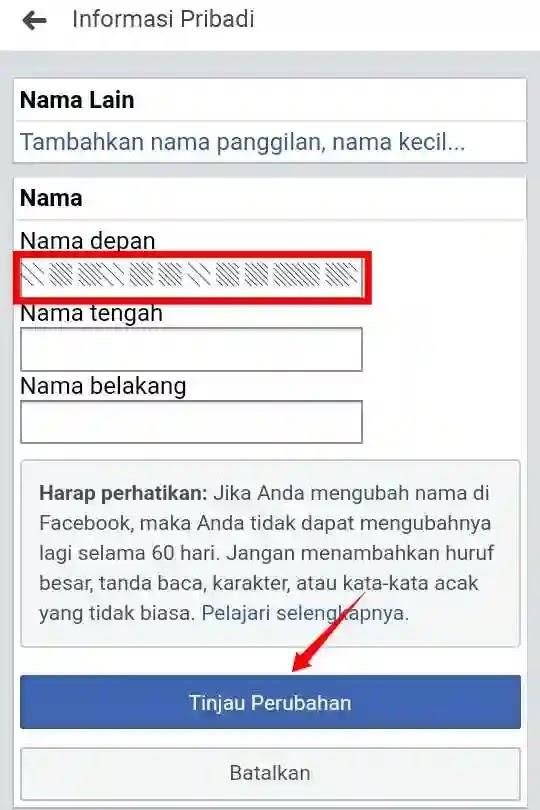 Cara Membuat Akun Facebook Tanpa Nama di FB Lite