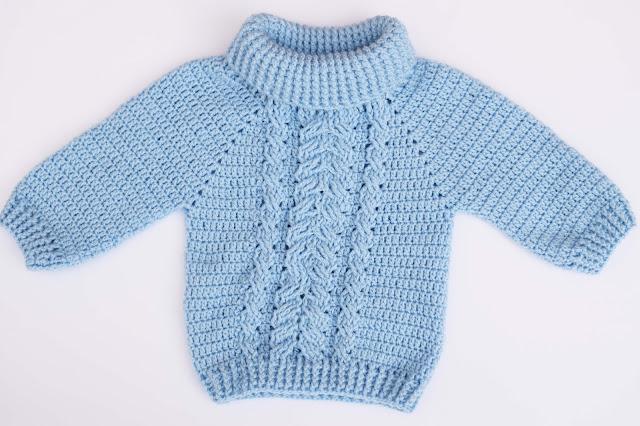 3-Crochet Imagen Jersey de espigas y ochos a crochet y ganchillo por Majovel Crochet