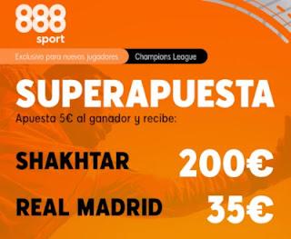 Superapuesta 888sport Shakhtar v Real Madrid 1-12-2020