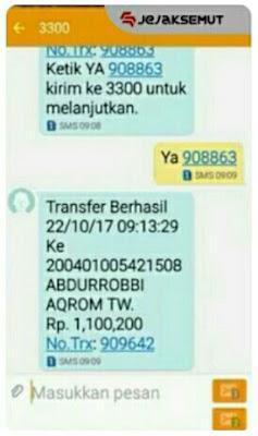 Cara Transfer BRI ke BRI Syariah lewat SMS