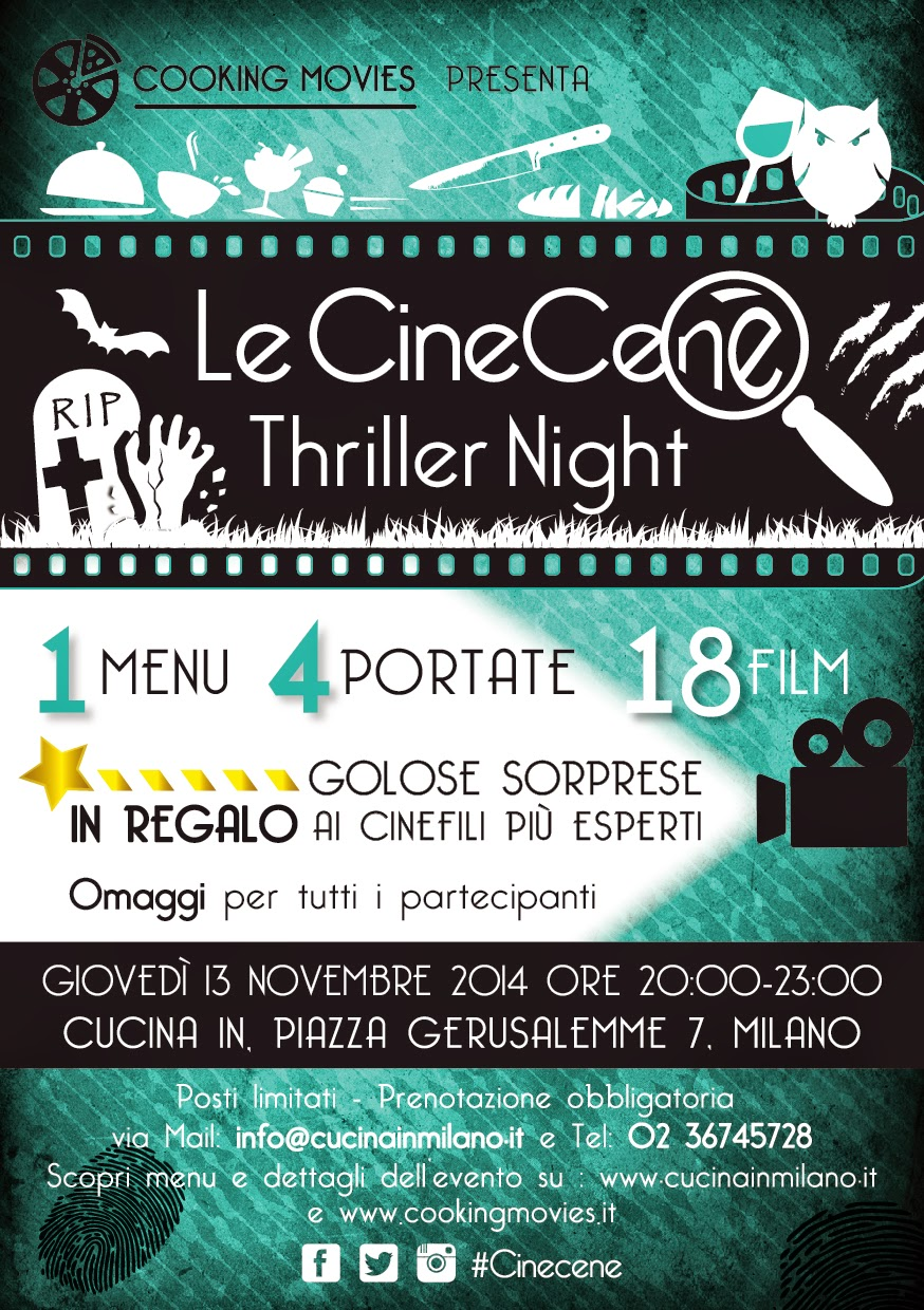 Locandina CineCene Cooking Movies 13 novembre