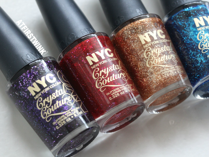 NYC Crystal Couture glitters nail polishes