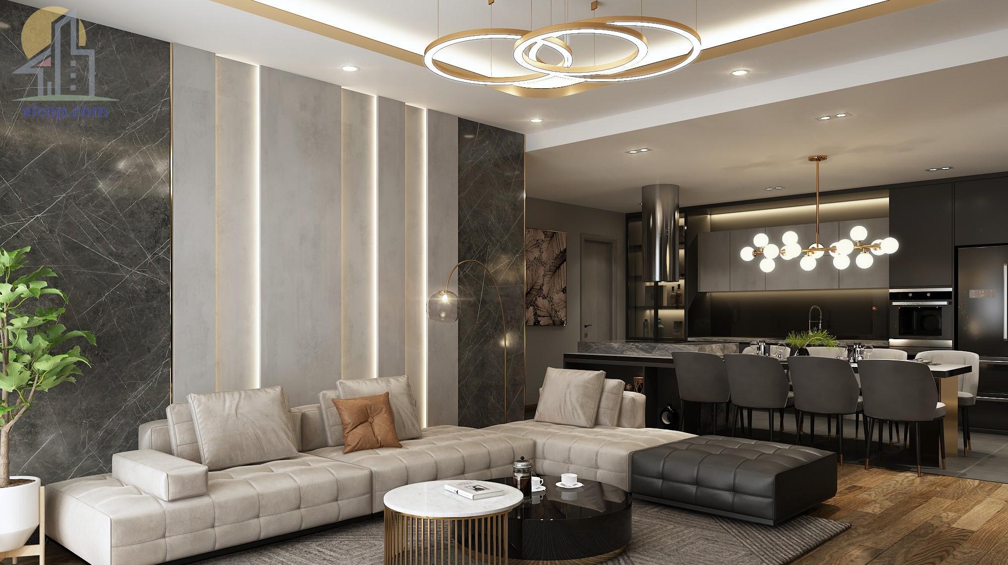 Thiết kế nội thất nhà phố hiện đại đẹp 1 phong cách đơn giản