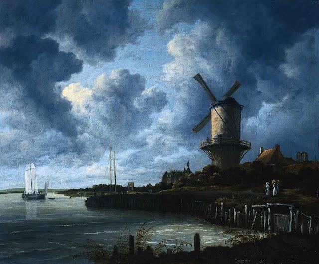 a Jacob Isaaksz Van Ruisdael painting in blue
