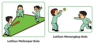 Gambar udin dan teman teman melempar dan menangkap bola kasti www.simplenews.me