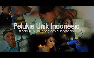 seniman dengan teknik lukis di indonesia