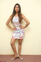 Nishi Ganda stunning cute in Flower Print short dress at Tick Tack Movie Press Meet March 2017 049.JPG