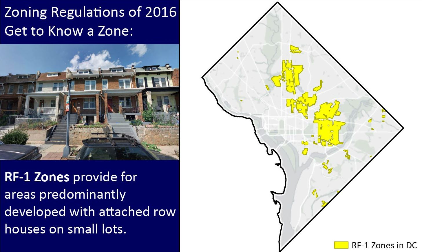 bloomingdale: new DC zoning regulations: RF-1 zone (formerly R-4) on
