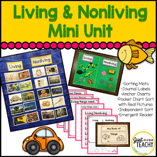 Living & Nonliving Mini Unit, www.JustTeachy.com