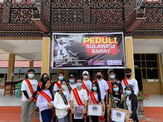 Duta Pelajar Toraja Serahkan Bantuan Kepada Korban Gempa di Sulbar