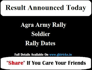 Agra Army Rally Soldier Rally Dates