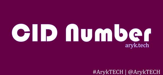 Identify HTC CID Number