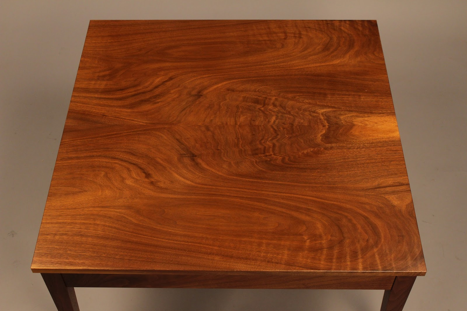 Book-matched walnut top solid wood