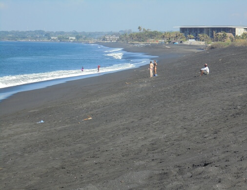 Sedayu or Sidayu Beach is a beautiful grayish dark sandy beach Pantai Sedayu Bali (Sedayu Beach) - Nice Seascape together with Beautiful River Estuary