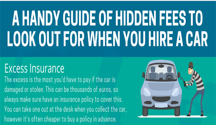 A Handy Guide of Hidden Fees to Look Out for When You Hire a Car #infographic