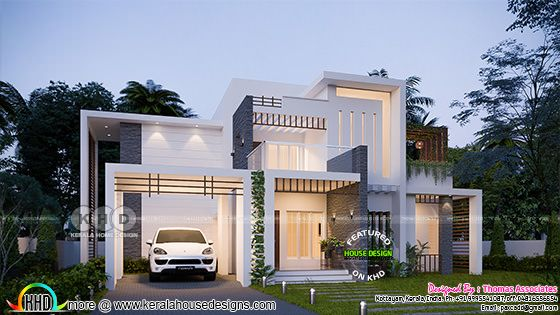 Box model 186 sq-m contemporary house plan