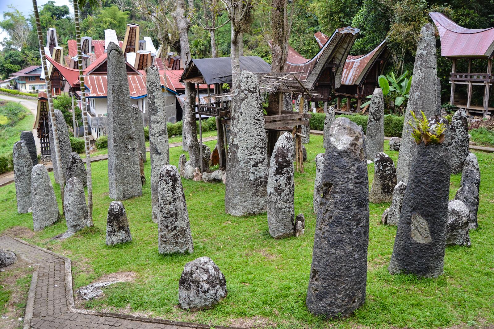 Menhir di Toraja (Hasil kebudayaan praaksara)