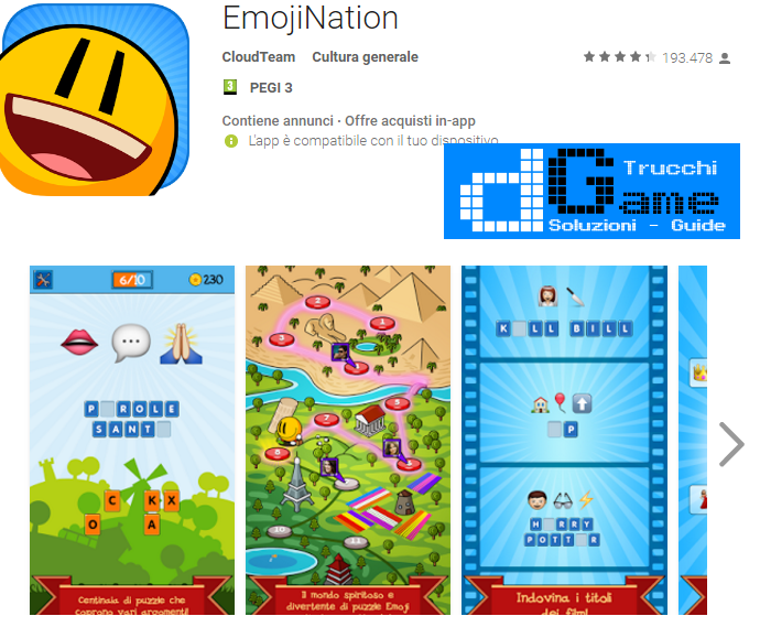 Soluzioni EmojiNation livello 101-102-103-104-105-106-107-108-109-110 | Trucchi e Walkthrough level