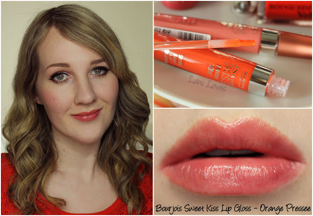 Bourjois Sweet Kiss Lip Gloss - Orange Pressee swatch & review