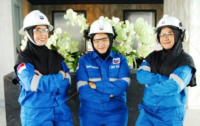 Chevron perkenalkan hijab khusus lindungi pegawai perempuan