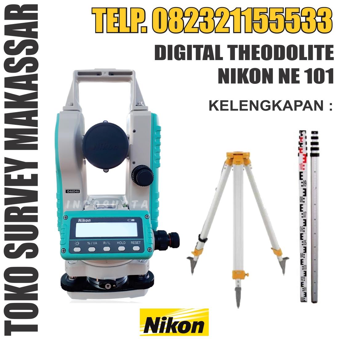 Jual Digital Theodolite Nikon NE-101 Murah Di Makassar