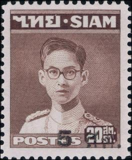 King Bhumibol Rama IX overprint