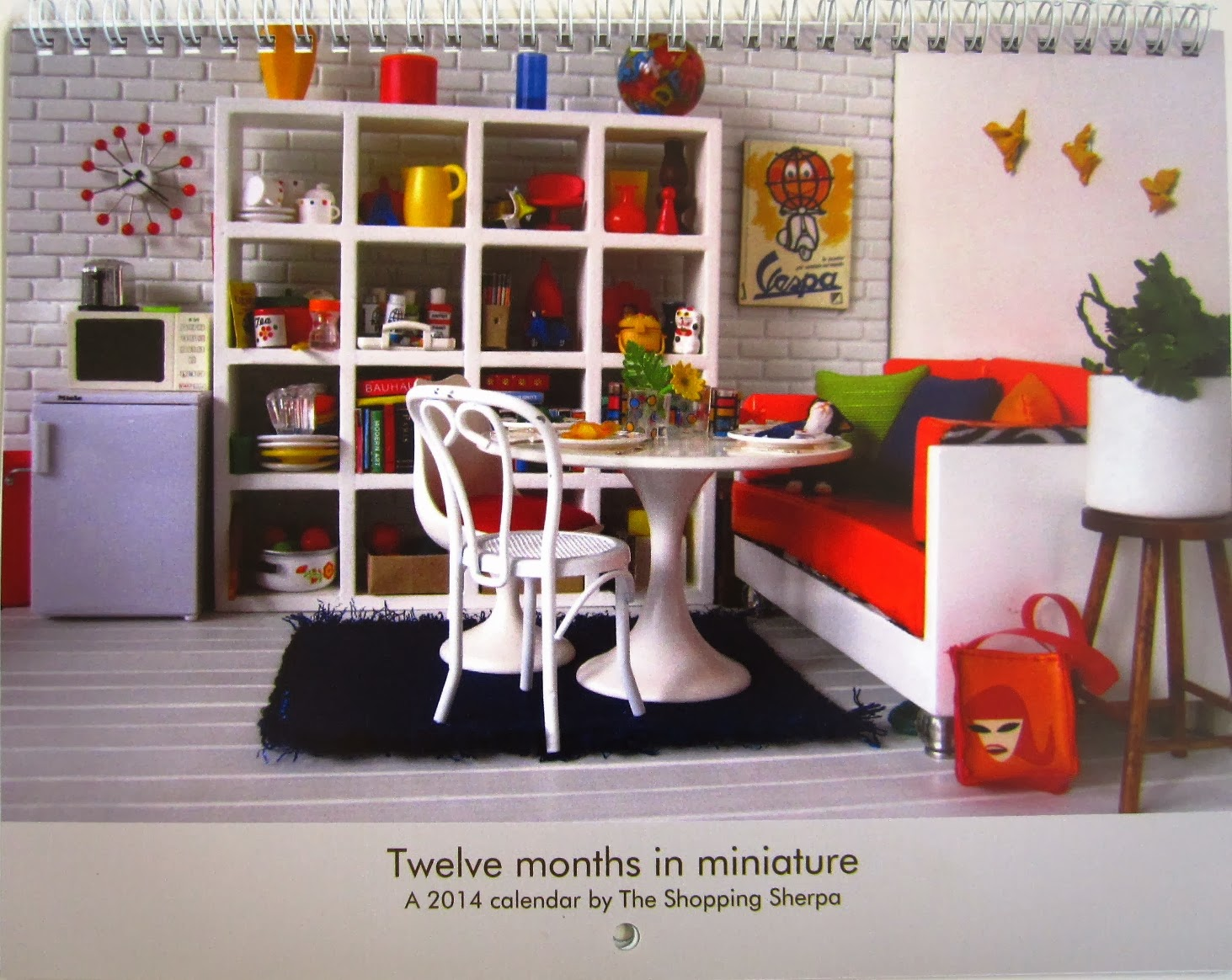 Twelve months in miniature: a 2014 calendar by The Shopping Sherpa