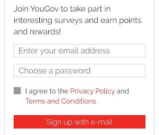 YouGov Surveys signup