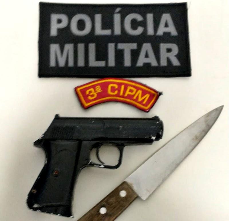 PM prende dupla por roubo à mão armada na cidade de Maruim
