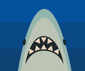 Fondo Simple Minimalista De La Boca De Un Tiburón