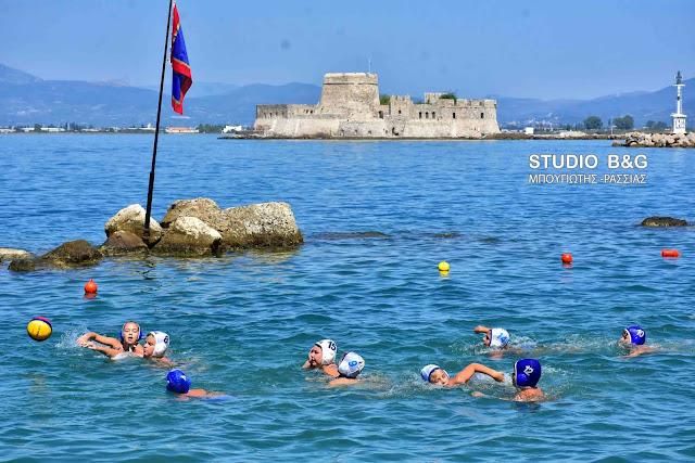 Αγώνες υδατοσφαίρισης στα πλαίσια των εκδηλώσεων της Ναυτικής Ναυπλιάδας 2018 (βίντεο)
