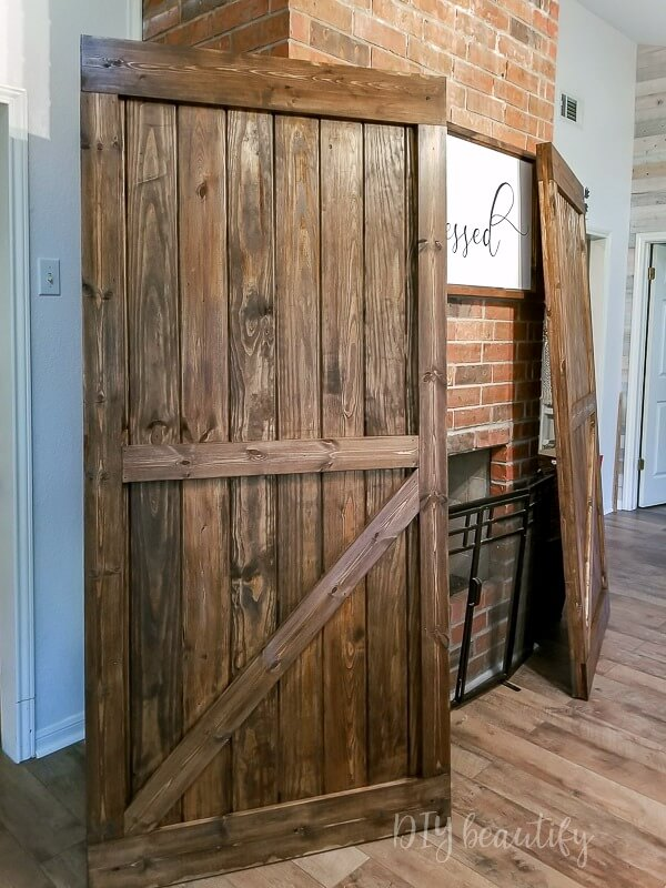 barn doors after staining