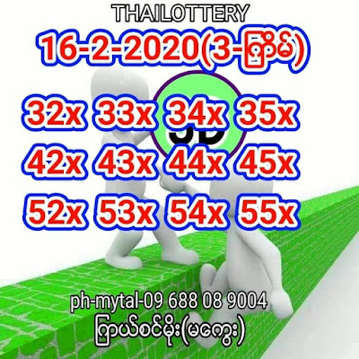 Thai Lottery 3up Down Total Tips Facebook Timeline 16 February 2020