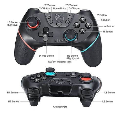 YONGQING Wireless Pro Controller Gamepad for Switch
