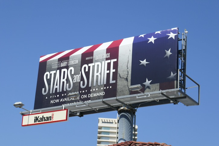 Stars and Strife documentary film billboard