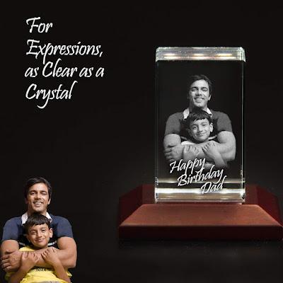 Crystal 3D Laser Engraved Crystal Cube