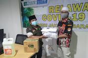 PCNU Jakbar Serahkan Bantuan Alat Penanganan Covid-19 Kepada LMP Perjuangan Jakbar