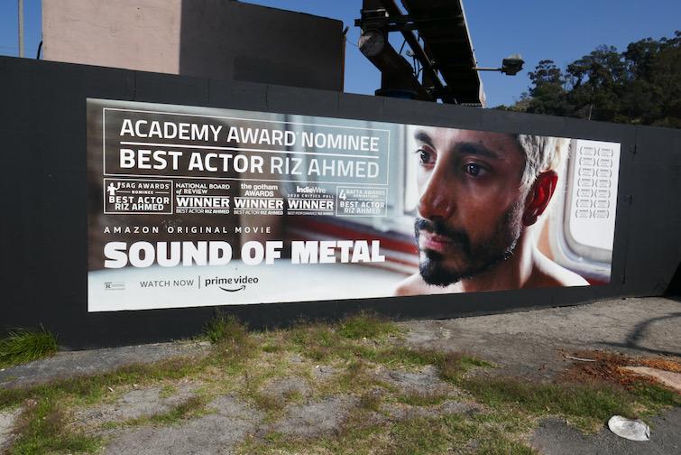 Sound of Metal Oscar nominee billboard