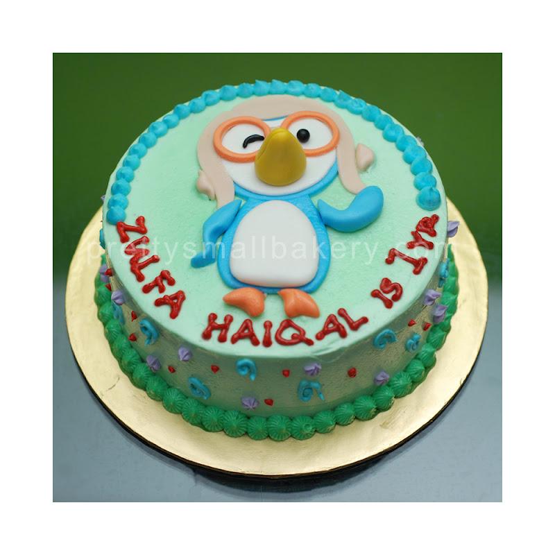 Kek Birthday Pororo Selamat Harj Jadi Haiqal