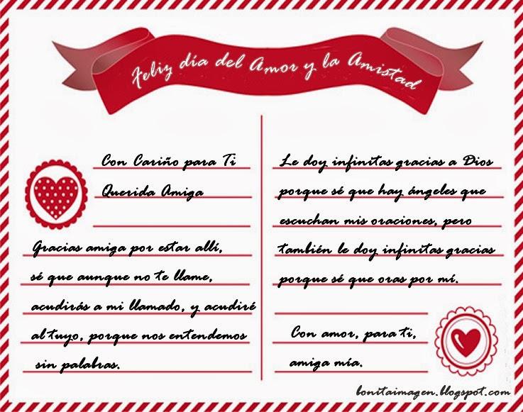 Carta A Una Amiga En San Valentin Imágenes Con Frases De Amor